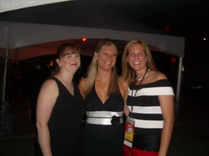 Me (far left) & Amanda (far right) at a work event.