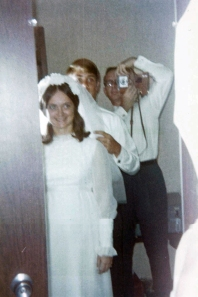 At my mom's wedding, 1971