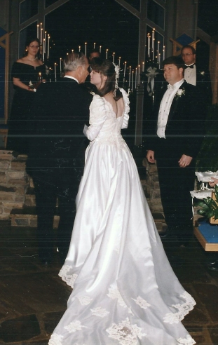 Giving me away at my wedding, 1996