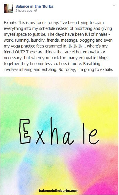 Exhale Post