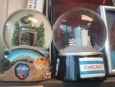 Snow globes! Gifts from my BFF, they're get stress relievers - just shake vigorously and wreak havoc over Chicago and a Royal Gorge train.
