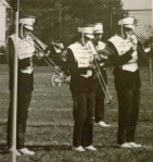 Marching band my freshman year in HS (in the middle...playing to the ants)
