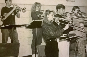 High school jazz band (I'm the female trombonist...duh)