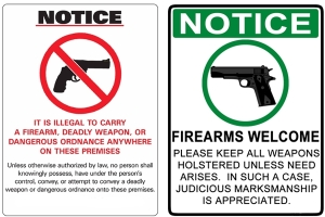 Maybe instead of sayng no guns (which law-abiding citizens follow but criminals ignore) maybe we should welcome guns and give criminals something to think about before they do something stupid.