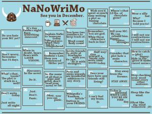 NaNoWriMo Calendar 2015