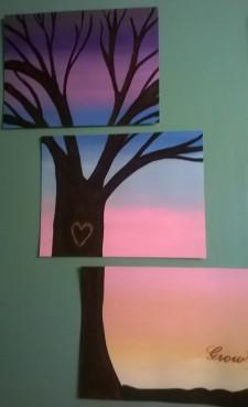 """Grow"" Tree - 3 canvas layout"