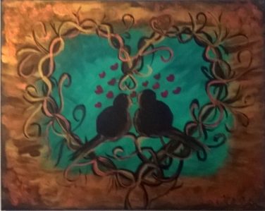 Nestling Love Birds